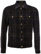 Lanvin checked flannel shirt jacket