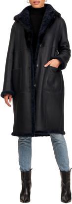 Christia Lamb Shearling Short Coat