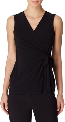 Anne Klein Sleeveless Side Tie Wrap Top