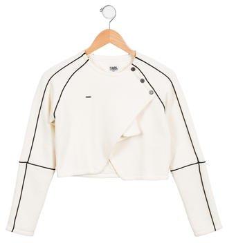 Karl Lagerfeld Girls' Textured Jacket