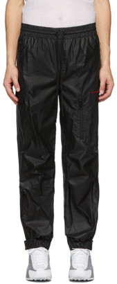 Alexander Wang Black Pleather Chynatown Lounge Pants