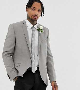 Heart N Dagger Slim Wedding Suit Jacket-Stone