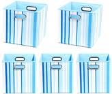 Modern Littles 5-pc. Striped Storage Bin Set