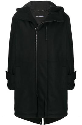 Les Hommes Hooded Duffle Coat