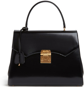 Mark Cross Madeline Lady Patent Leather Top Handle Bag