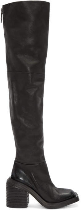 Marsèll Black Scatolo Over-the-Knee Boots