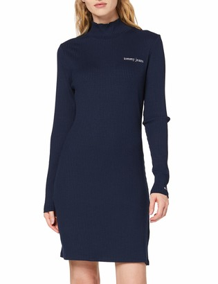 Tommy Jeans Women's Tjw Fitted Rib Dress