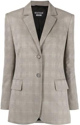 Boutique Moschino Check Pattern Single-Breasted Blazer