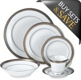 Noritake Crestwood Platinum 50-Piece Dinnerware Set