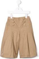 Familiar wide leg button shorts