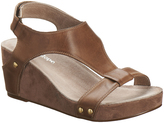 Antelope Gray Leather Wedge