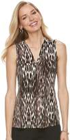 Dana Buchman Women's Pleated V-Neck Tank