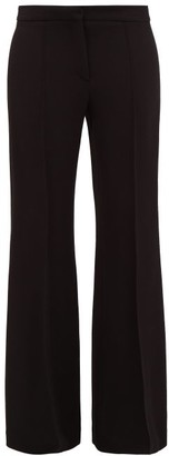 Raey Wool-crepe Slim-leg Flared Trousers - Womens - Black