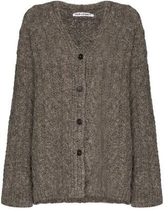 Our Legacy knitted V-neck cardigan