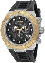 Invicta Women's 10863 Subaqua Sport Chronograph Black Carbon Fiber Dial Black Silicone Watch