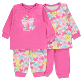 George 2 Pack Butterfly Pyjamas