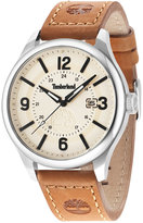 Timberland Men's Brant Light Brown Leather Strap Watch 46x54mm TBL14645JS07