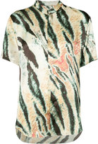 Baja East tiger print short-sleeve shirt - women - Silk - 00