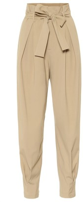 RED Valentino High-rise tapered paperbag pants