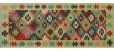 Runner Gospel Geometric Handmade Kilim Wool Red Area Rug Millwood Pines