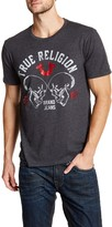 True Religion Skull Logo Crew Neck Graphic Tee