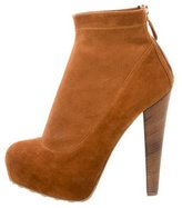Brian Atwood Suede Platform Booties
