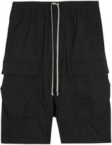 Rick Owens Black Dropped-crotch Shell Shorts