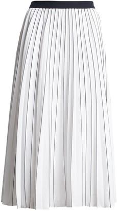 Banana Republic Stripe Pleated Midi Skirt