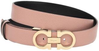 Salvatore Ferragamo 2.5cm Reversible Leather Belt
