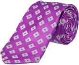 Ike Behar Purple Summer Squares Silk Tie