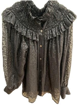 Salvatore Ferragamo Black Silk Top for Women