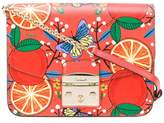 Furla orange printed bag