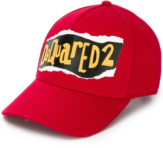 DSQUARED2 Torn Logo Baseball Cap