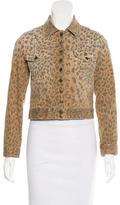 Current/Elliott Leopard Print Denim Jacket