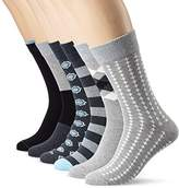 My Way MyWay Men's Metropolitan Calf Socks (Pack of 6), Multicoloured (anthracite)