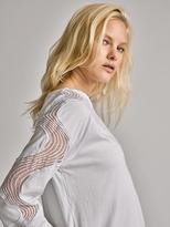 White + Warren Cotton Embroidered Top