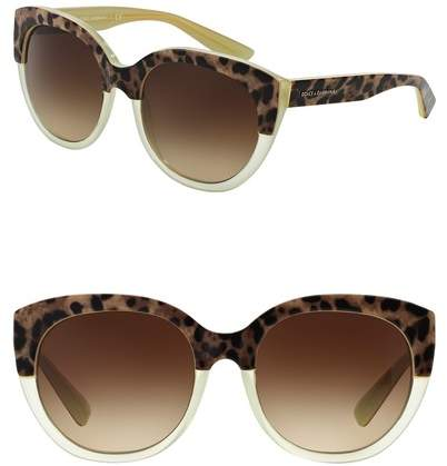 Dolce & Gabbana 54mm Round Sunglasses