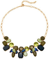 Catherine Stein Blue & Olive Accented Necklace