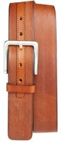 Tommy Bahama Herringbone Embossed Leather Belt