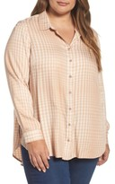 Melissa McCarthy Plus Size Women's Plaid Side Split Shirt