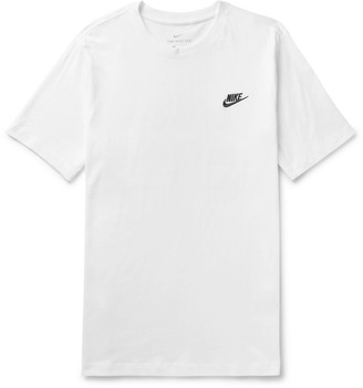 Nike Logo-Embroidered Cotton-Jersey T-Shirt