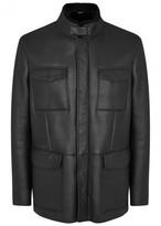 Giorgio Armani Black Shearling Jacket