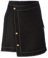 Loewe asymmetric skirt - women - Linen/Flax/Viscose - 38