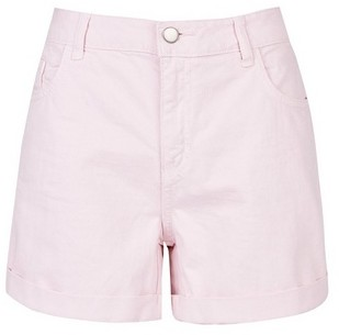 Dorothy Perkins Womens Pale Pink Boy Denim Shorts, Pink