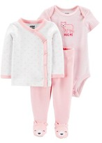 Carter's Child Of Mine By Child of Mine by Baby Girl Outfit Take Me Home, 3-Piece