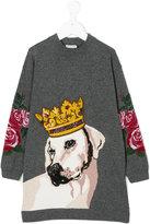 Dolce & Gabbana dog knitted dress