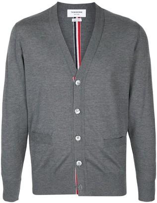 Thom Browne RWB-stripe cardigan