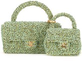 Chanel Pre Owned 1991-1994 tweed two-in-one bag set