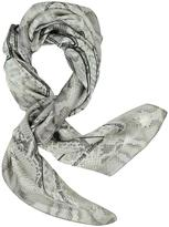 Roberto Cavalli Animal Print Pure Silk Square Scarf