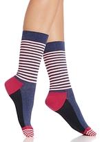 Happy Socks Color-Block Stripe Crew Socks